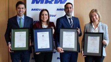 MRW obtiene los certificados ISO 9001 y 14001