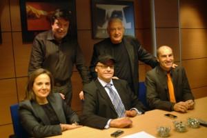 Yolanda Porras, Carles Cardona y Fernando Tarrés junto a Lluís Miquel Sala y Lluís Mellado