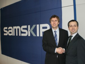 Russell Baker, Samskip Route Manager Iberia (izquierda) y Ander Rodríguez, BDM Agencias Marmedsa Group