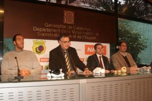 Roberto Dueñas, Luis Miguel Santillana, Manel Orihuela y Manel Bosch