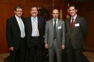 De izquierda a derecha: Francisco Bernal, Manuel Valenzuela, Jordi Pellicé y Oscar Sevilla