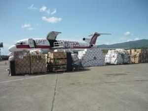 Ceva utiliza aviones 727-200 en los vuelos de emergencia hacia Haití