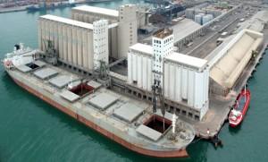 granelero en silos