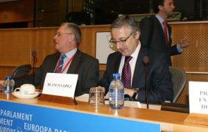José Blanco en su comparecencia ante el Parlamento Europeo