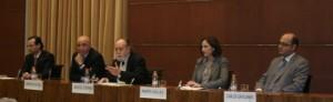 De izquierda a derecha: Alejandro Arola, Antonio de la Ossa, Carlos Güell de Sentmenat, Marta Vallés y Carlos Gavilanes
