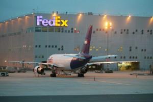Hub de FedEx en el aeropuerto Charles de Gaulle de París