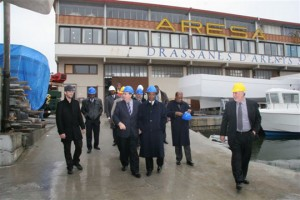 La delegación del Camerún durante su visita a Aresa Boat´s