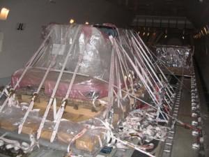 Operativa de embarque de piezas de gran tamaño y tonelaje