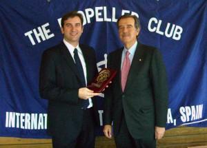 Ferran Soriano y Pedro Maqueda, presidente del Propeller