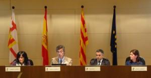 Carmina Lafuente, Alberto Sanfeliu, Pere Roca y Blanca Sorigué