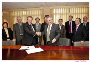 El presidente de Renfe, Teófilo Serrano, y el Director General de los Ferrocarriles de Bosnia y Herzegovina, Ivan Kmezovic