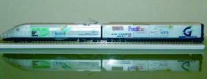 Maqueta de un convoy de Cargo Rail Express