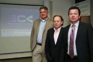 De izquierda a derecha: Charles van der Beerg, Juan Carlos del Rey y Javier Rincón