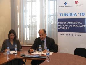 Joan Colldecarrera explicó la Msisión Empresarial del Port de Barcelona a Túnez