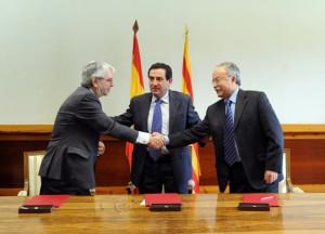 De izquierda a derceha: José Salgueiro, Alfonso Vicente y Manuel Morón