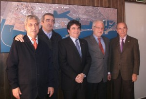 De izquierda a derecha: Carlos Benavente, Emili Sanz, Amadeu Outeiro, Josep Bertrán y Jesús Revilla