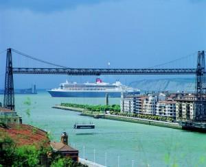 El Queen Mary 2 el año pasado en Bilbao