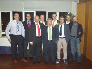 Grupo de Directores y Socios de otras plazas asistentes al acto