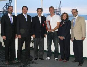 De izquierda a derecha: Xavier Chela, José María Llusá, Eugenio Cruz, Dietrich Matthias, Rosa Puig y Miguel Ángel Duro