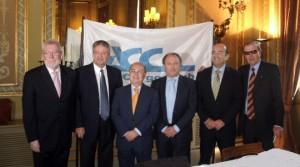 De izquierda a derecha: Matías García, Joaquim Pueyo, Fernando Gonzalo, José Manuel Fernández, Joan Marí y Manel Cardona