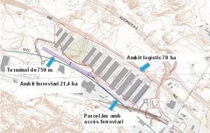 El centro intermodal de Montblanc tendrá zonas para actividades económicas y logísticas y una terminal ferroviaria intermodal