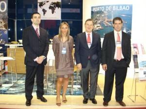 Algunos de los miembros de la delegación bilbaína que se han desplazado a la feria Intermodal South America