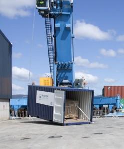 El sistema de trincaje asegura las condiciones de la carga, la inmovilización de la mercancía y el transporte en contenedor por vía marítima