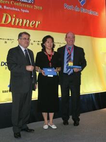 Jordi Valls, Liu Zhanfang y David Yokeum
