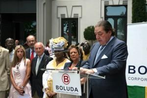 Vicente Boluda durante la presentación de Humanitarian Transport