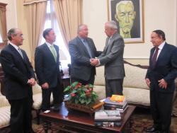 El presidente de la Autoridad Portuaria de Ferrol, Ángel del Real, se reunión con el Gobierno dominicano