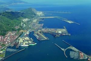 vista aérea puerto de Bilbao