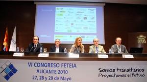 De izquierda a derecha: Gerardo Landaluce, Javier Gesé, Mónica Bautista, Manuel Vicens y Juan Ferrer