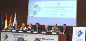 De izquierda a derecha: Marco Sorgetti, Gerardo Díaz Ferrán, Sonia Castedo, Alejandro Soler, Enric Ticó, José Luis Cachafeiro, Miguel Campoy y Eugenio López
