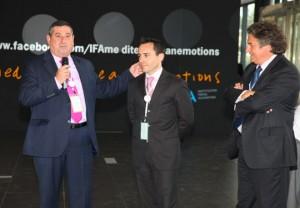 De izquierda a derecha: Eugenio López, Fernando Colvé y Enric Ticó