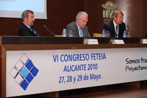 De derecha a izquierda: Juan Antonio Delgado, Luis Rosa, presidente de ATEIA Valencia, y Oscar Pierre