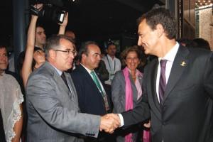 José Luis Rodríguez Zapatero saludando a Jordi Valls