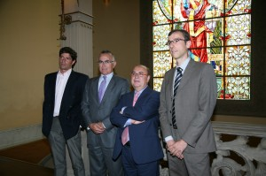 De izquierda a derecha: Antonio Gómez, Cesáreo Fernández, Fernando Gonzalo y Cándido Guillén