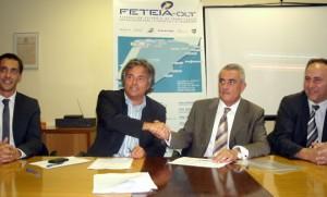 de izquierda a derecha: Oscar Guirao, Enric Ticó, Santos Guirao y Jordi Mas