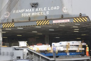 El primer embarque fue una carga de Thyssenkrupp con destino a Dubai y Qatar