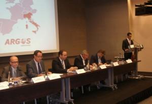 De izquierda a derecha: Jaume Mira, Pere Macias, Jordi Mas, Evaristo magaña y Enric Ticó