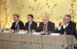 De izquierda a derecha: Juan Ramón Rodríguez, Pere Roca, José Luís Cachafeiro y Luís E.Doménech