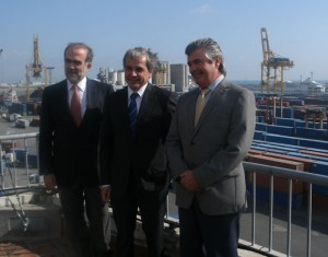 De izquierda a derecha, Miguel Ángel Duro, Xavier Soucheiron y Carlos Larrañaga