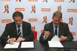Josep Senespleda, Director General de la ACB, y Manuel Orihuela, Subdirector General de Nacex
