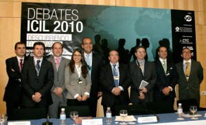 Participantes del debate 1 sobre internacionalización