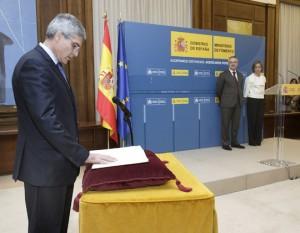 Isaías Táboas tomando posesión de su cargo como secretario de Estado de Transportes