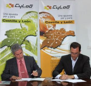 Víctor Vilas y Juan Carlos Sánchez-Valencia Díez durante la firma del acuerdo