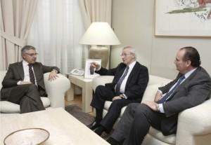 Miquel Valls y José Vicente Morata reunidos con José Blanco
