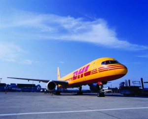 DHL avion perfil