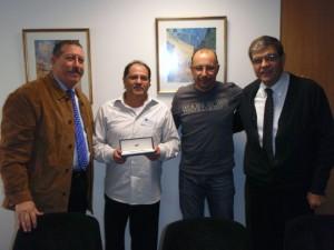 De izquierda a derecha: Manuel Valenzuela, José Manuel Villarreal, Jordi Pellicé y Francisco Bernal
