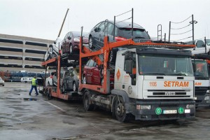 1.- Camiones SETRAM en Terminal Puerto Barcelona